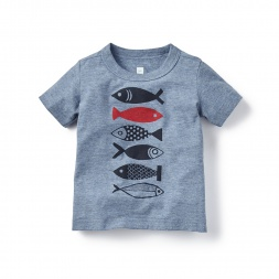 Stack of Sardines Graphic Tee for Baby Boys | Tea Collection