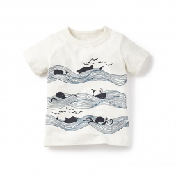 Whales & Waves Graphic Tee for Baby Boys | Tea Collection