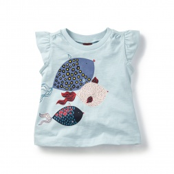 Shibori Fish Graphic Tee for Baby Girls | Tea Collection