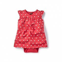 Reef Dot Romper Dress for Baby Girls | Tea Collection