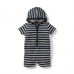 Ahoy Anchor Hooded Romper for Baby Boys | Tea Collection