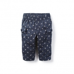 Anchors Aweigh Cargo Pants for Baby Girls | Tea Collection