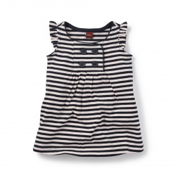 Harbor Stripe Sailor Dress for Baby Girls | Tea Collection