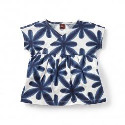 Hajime Shibori Wrap Neck Top for Girls | Tea Collection
