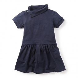 Deep Dive Funnel Neck Dress for Girls | Tea Collection