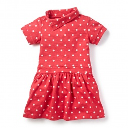Reef Dot Funnel Neck Dress for Little Girls | Tea Collection