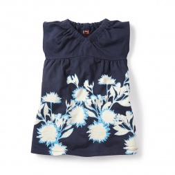 Sunprint Garden V-Neck Dress for Girls | Tea Collection