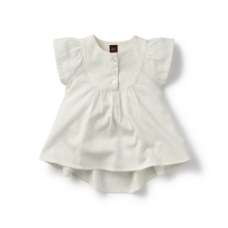 Girls Heritage Stripe Flutter Top | Tea Collection