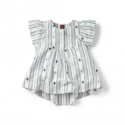 Citizen Stripe Flutter Top for Girls | Tea Collection