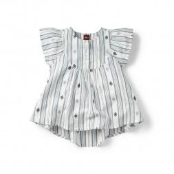 Citizen Stripe Flutter Top for Girls | Tea Collection