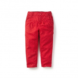 Little Girls Dotty Pleated Capri Pants | Tea Collection