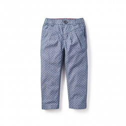 Girls Chambray Pleated Capri Pants | Tea Collection