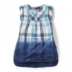 Atlantic Plaid Shirtdress for Little Girls | Tea Collection
