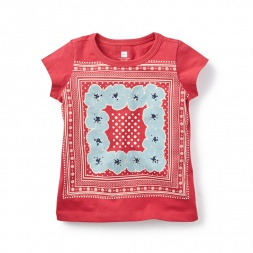 Bandana Graphic Tee for Girls | Tea Collection