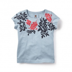 Mulberry Graphic Tee for Little Girls | Tea Collection