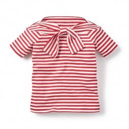 Little Girls Bon Voyage Bowtie Top | Tea Collection