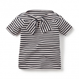 Little Girls Bon Voyage Bowtie Top | Tea Collection