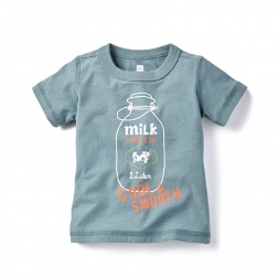 Fresh Milk Graphic Tee for Baby Boys | Tea Collection