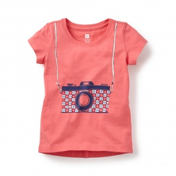 Cámara Graphic Tee Shirt for Girls | Tea Collection