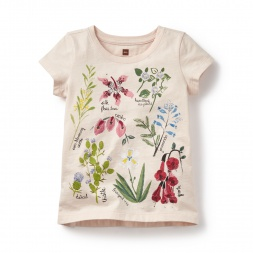 Flores Silvestres Graphic Tee for Little Girls | Tea Collection
