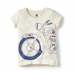 Motocicleta Graphic Tee for Girls | Tea Collection
