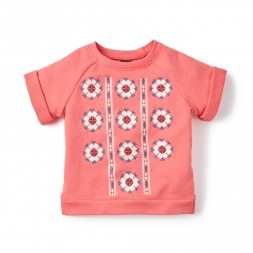 Pink Piba Embroidered Sweatshirt for Little Girls | Tea Collection