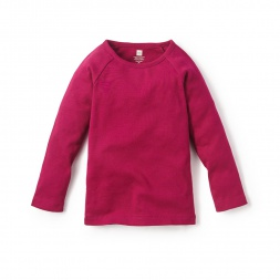 Ribbed Purity Tee Shirt for Little Girls | Tea Collection