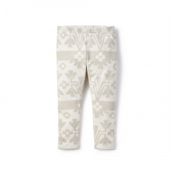 White Cachi Leggings for Little Girls | Tea Collection