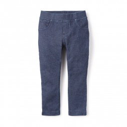 Denim Knit Pant for Little Girls | Tea Collection