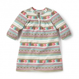 Catamarca Henley Dress for Girls | Tea Collection