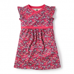 Little Girls Lucia Wrap Neck Dress | Tea Collection