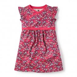 Little Girls Lucia Wrap Neck Dress | Tea Collection