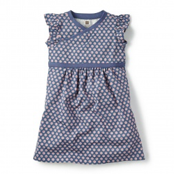 Girls La Planta Wrap Neck Dress | Tea Collection