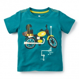 Moto Trek Graphic Tee Shirt for Little Boys | Tea Collection