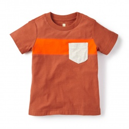 Colorblock Pocket Tee Shirt for Boys | Tea Collection