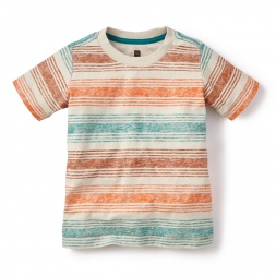 Aracar Striped Tee Shirt for Little Boys | Tea Collection