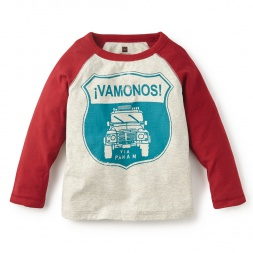 Vamonos Baseball Tee for Little Boys | Tea Collection