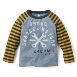Blue Little Boys Garaje Baseball Tee Shirt | Tea Collection