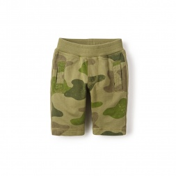 Camo Side Stripe Shorts for Little Boys | Tea Collection