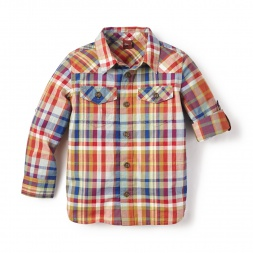 Cerro Plaid Shirt for Little Boys | Tea Collection