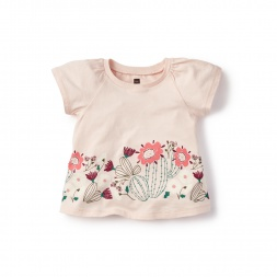 Flor de Cactus Graphic Tee for Baby Girls | Tea Collection