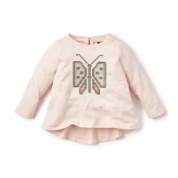 Mariposa Cross Stitch Top for Baby Girls | Tea Collection