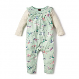 Pajaro Wrap Neck Romper for Babies | Tea Collection