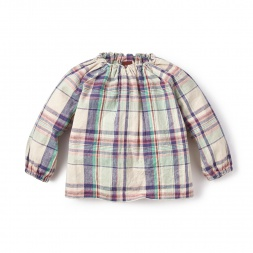 Rocio Plaid Baby Top for Girls| Tea Collection