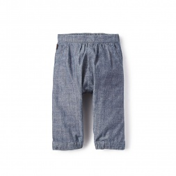 Chambray Baby Pants for Baby Girls | Tea Collection