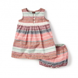 Striped Raya Argentina Baby Outfit for Girls | Tea Collection