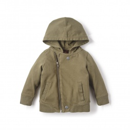 Zip-Up Moto Hoodie for Baby Boys | Tea Collection