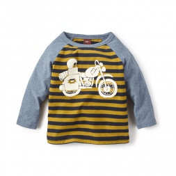 Long-Sleeve Pequena Motocicleta Graphic Tee Shirt for Baby Boys | Tea Collection