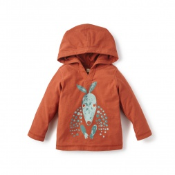 Boys Red Armadillo Happy Hoodie for Babies | Tea Collection