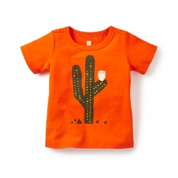 Baby Boy Buho y Cactus Graphic Tee Shirt | Tea Collection